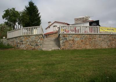 El jardín y la terraza