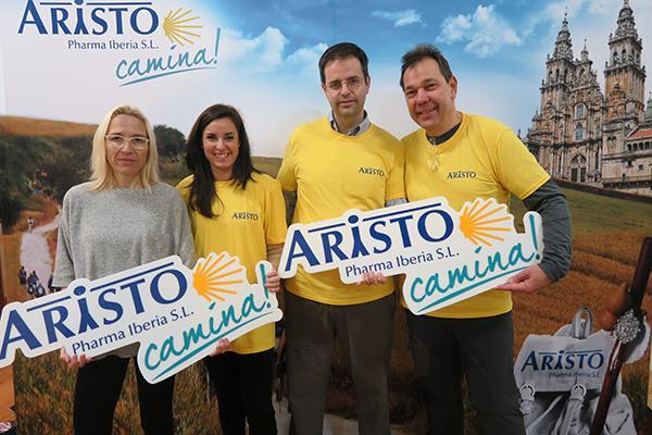 empleados-aristo-pharma-camino-santiago-solidario-albergue-milpes